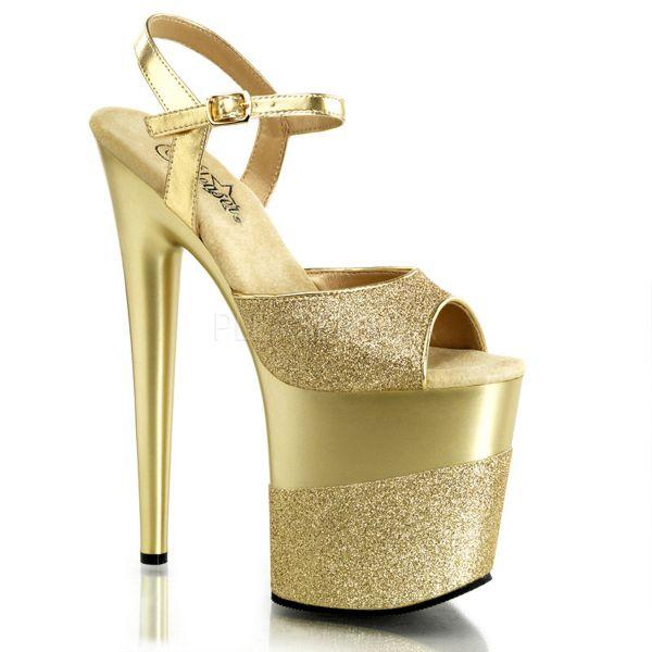 Plateau Sandalette in gold Glitter FLAMINGO-809-2G